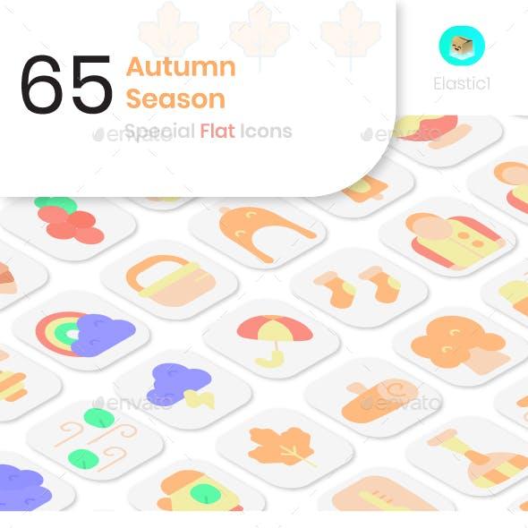 Autumn Season Flat Icons