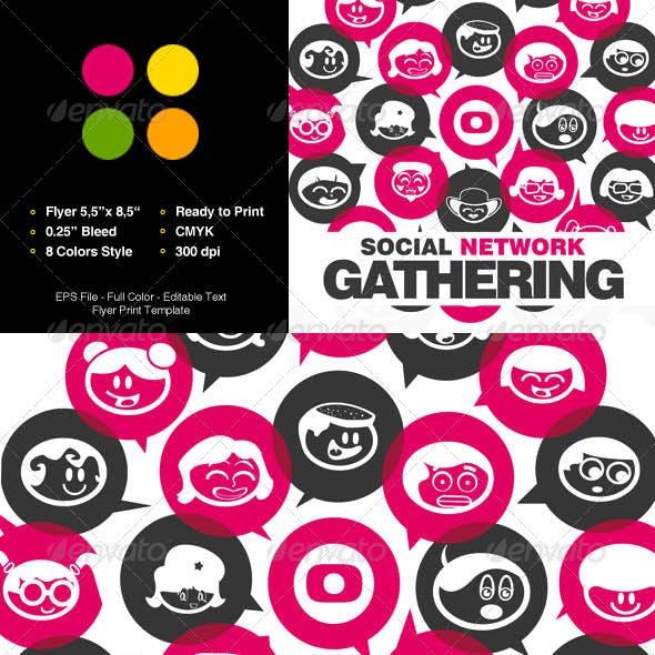 Social Network Gathering Flyer