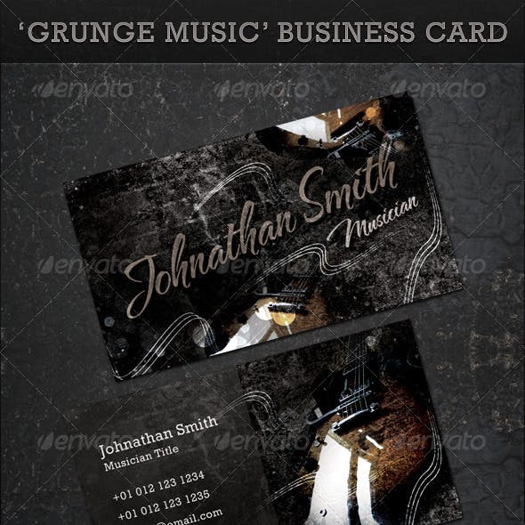 Grunge Music Business Card