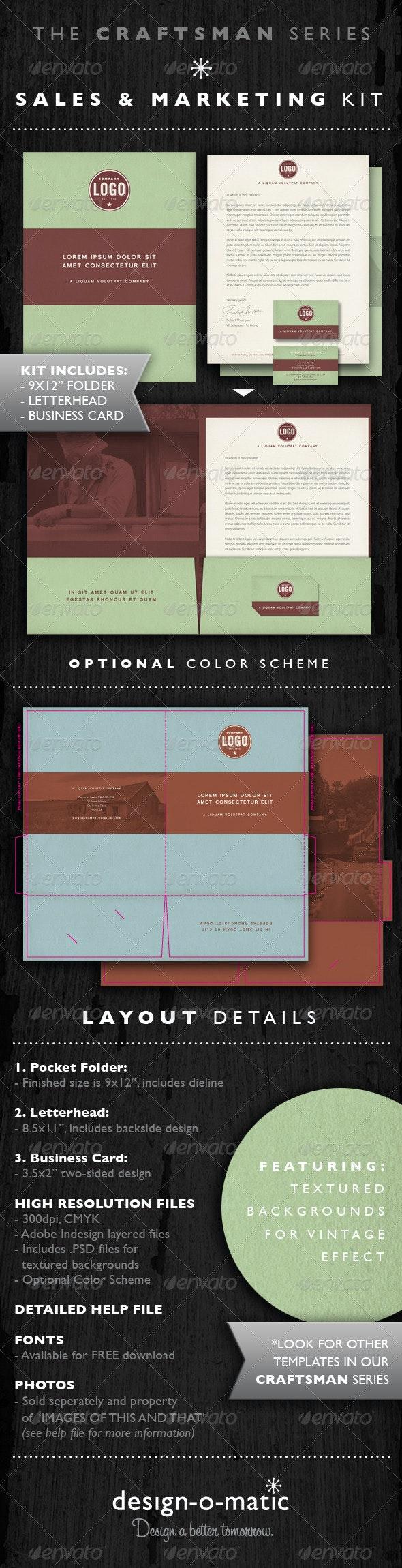 Sales & Marketing Kit Folder Template INDD - Miscellaneous Print Templates