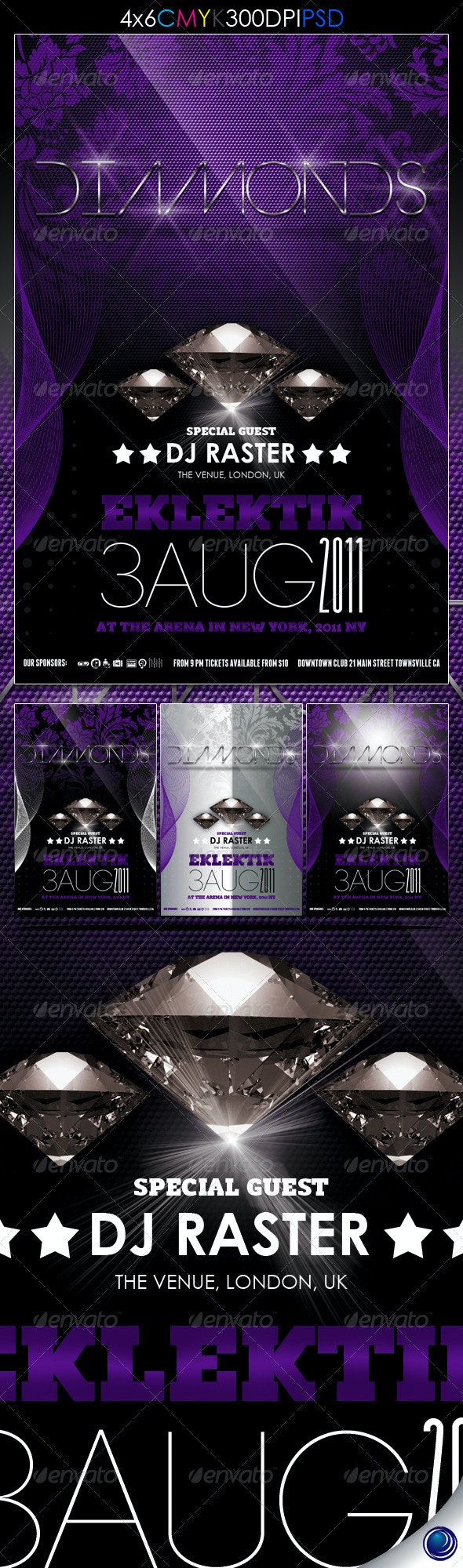 Elegant Luxury Party Flyer Template - Clubs & Parties Events