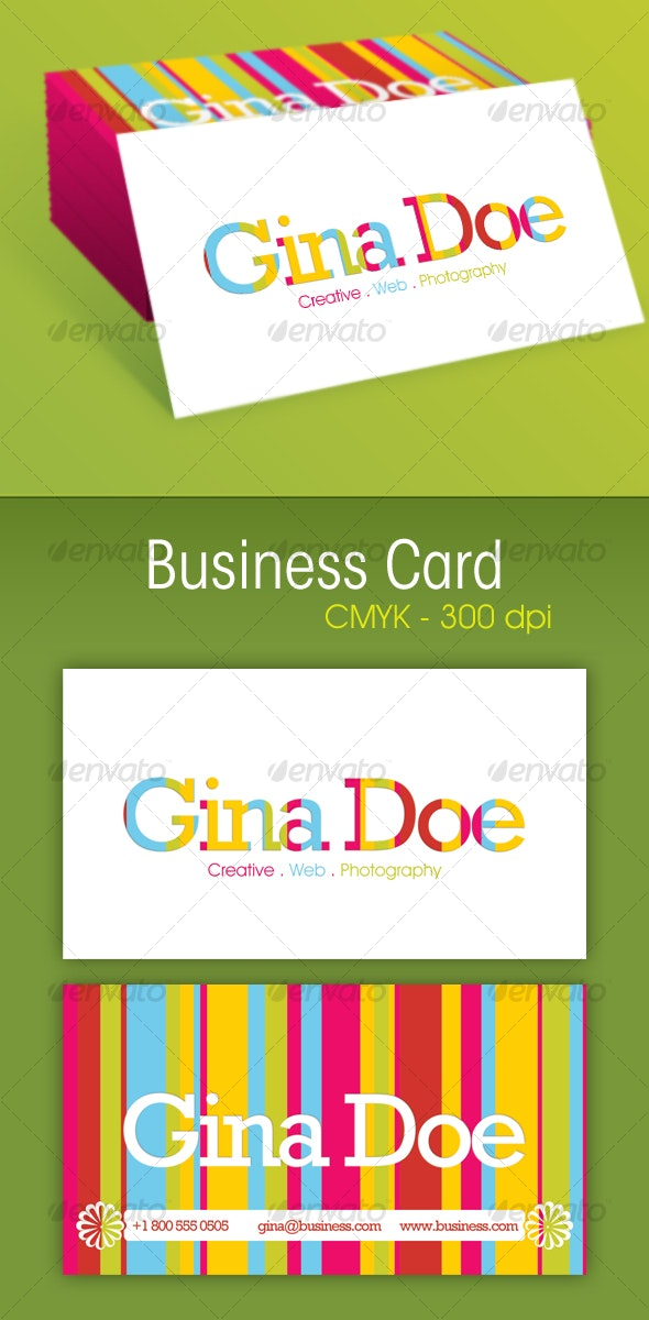 Coloring Business Card - Creative Business Cards