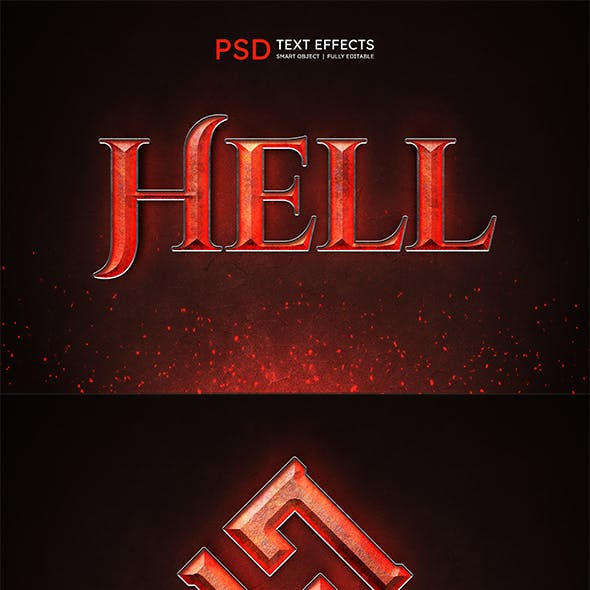 HELL Text Effect Style
