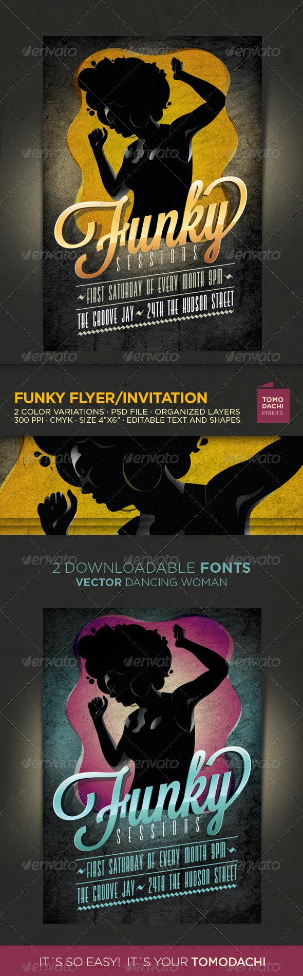 Funky Flyer/Invitation - Events Flyers