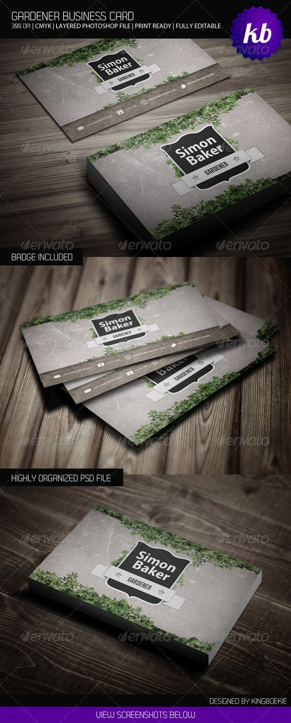 Gardener Business Card - Creative Business Cards