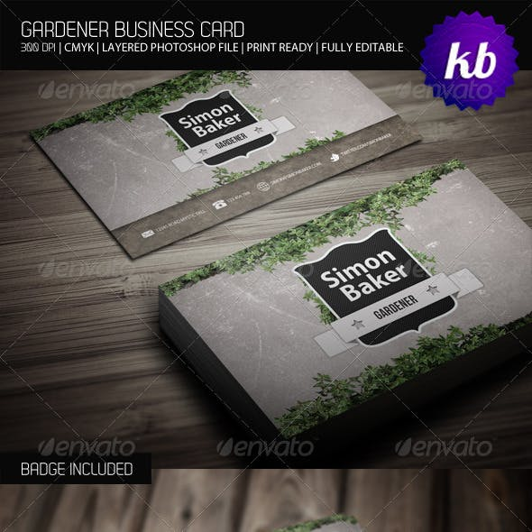 Gardener Business Card