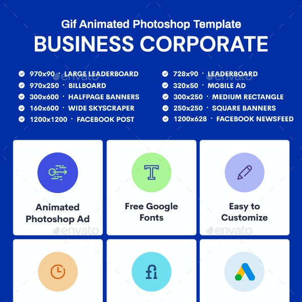 GIF Banners - Business, Corporate Banners Ad