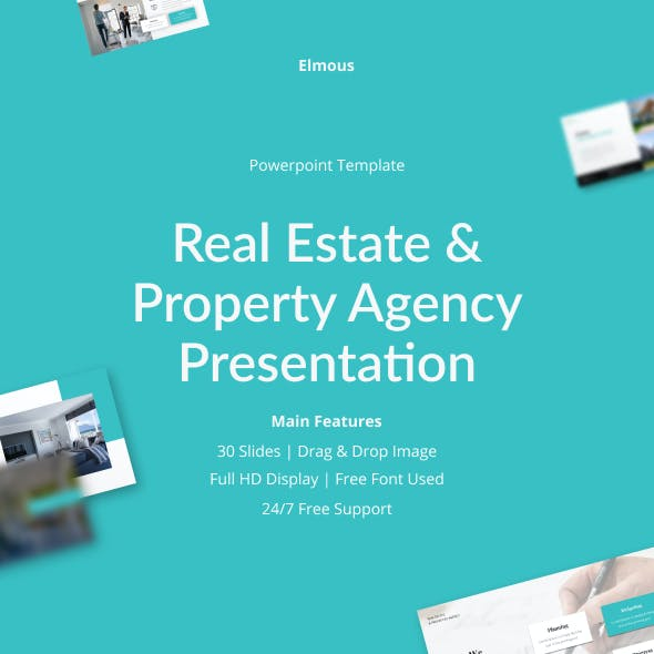 Real Estate & Property Agency Powerpoint Presentation Template
