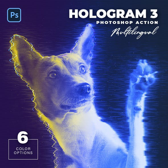 Hologram 3 Photoshop Action