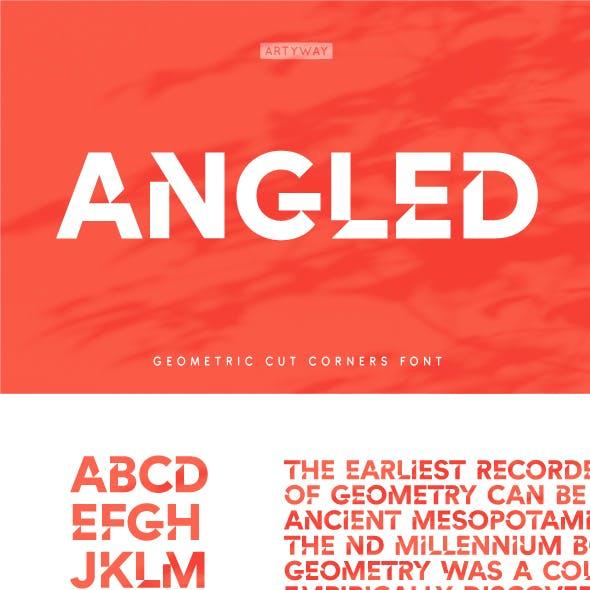 Geometric Cut Angles Font