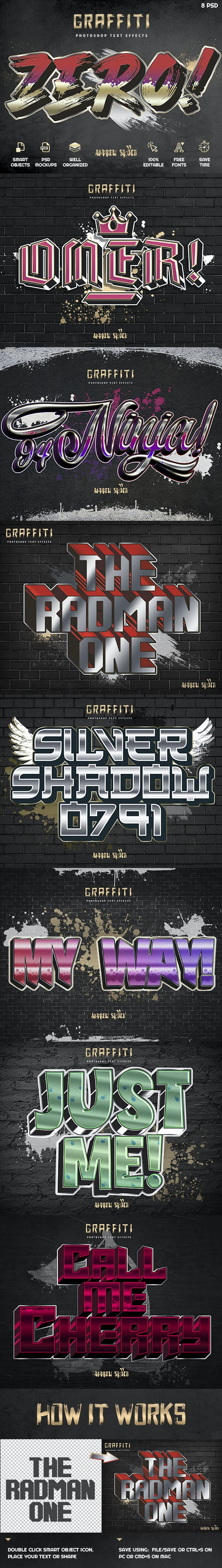 Graffiti Text Effects vol 4 - Text Effects Actions
