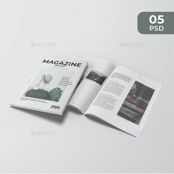 Clean A4 Magazine Mockup
