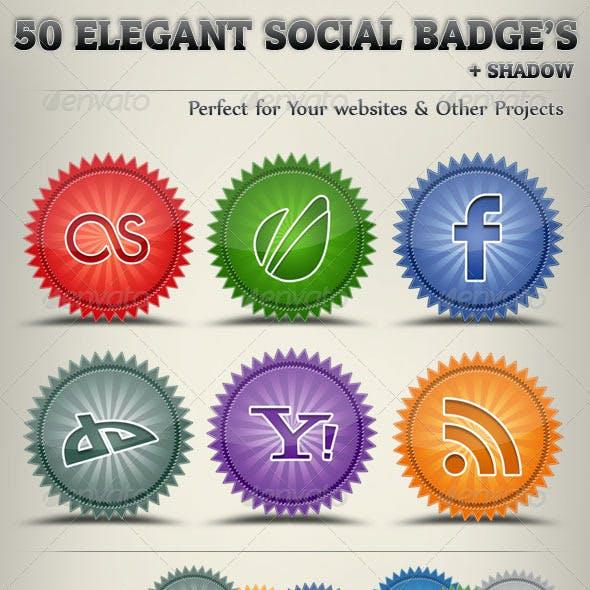 50 Elegant Social Badges