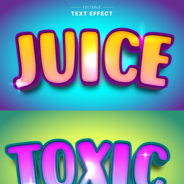 """This is Editable """"Candy Sweet 3D Text Effects"""" for Illustrator."""