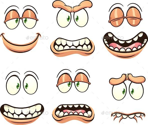 Cartoon Faces - Miscellaneous Conceptual