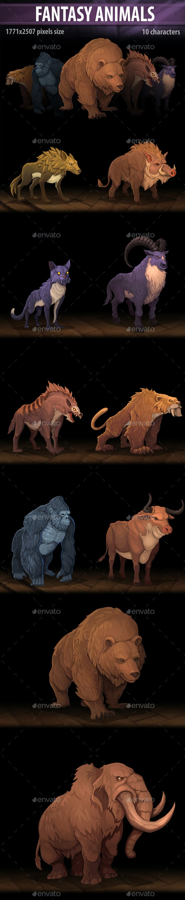 Fantasy Animals - Miscellaneous Game Assets