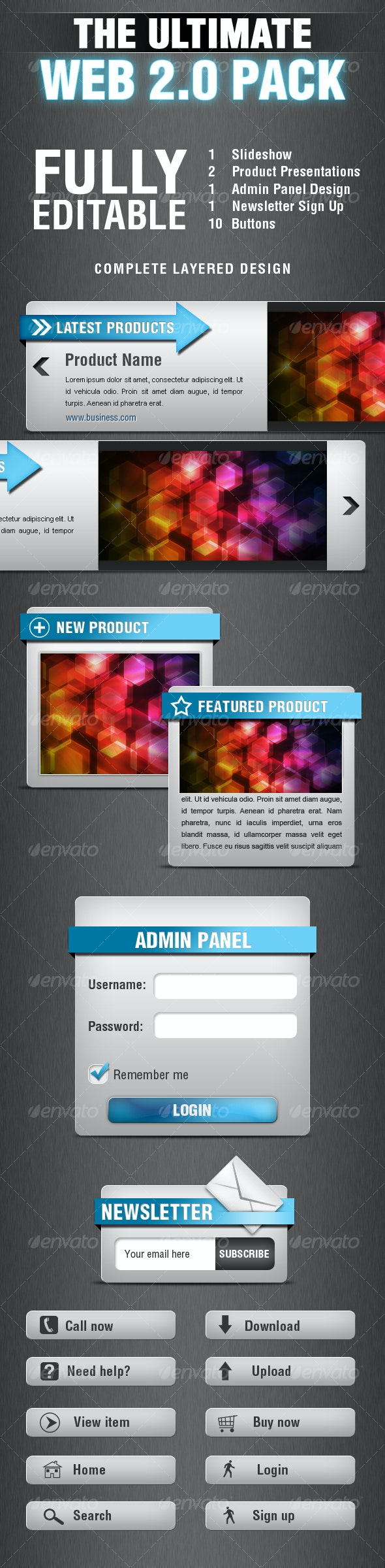 THE ULTIMATE WEB 2.0 PACK - Miscellaneous Web Elements