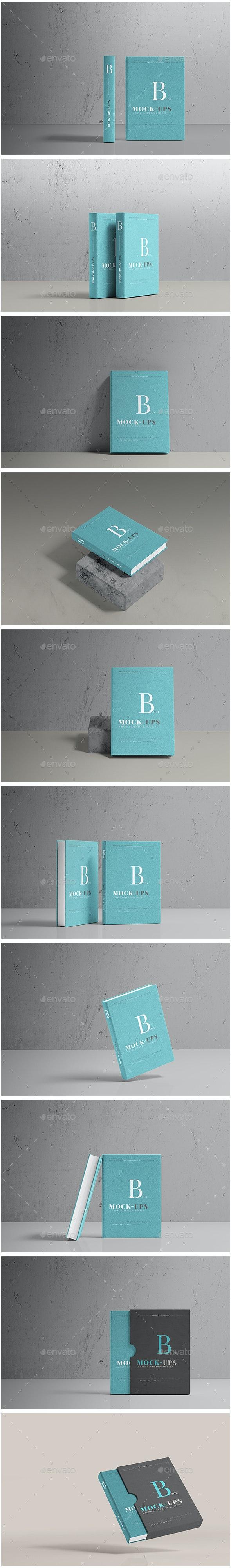 Hard Cover Book Mockup - Books Print