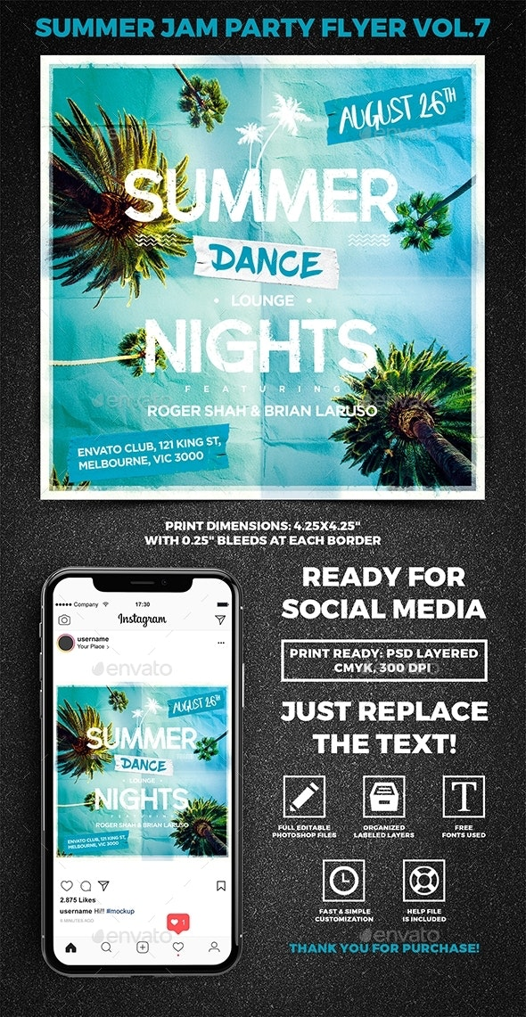 Summer Jam Party Flyer vol.7 - Clubs & Parties Events