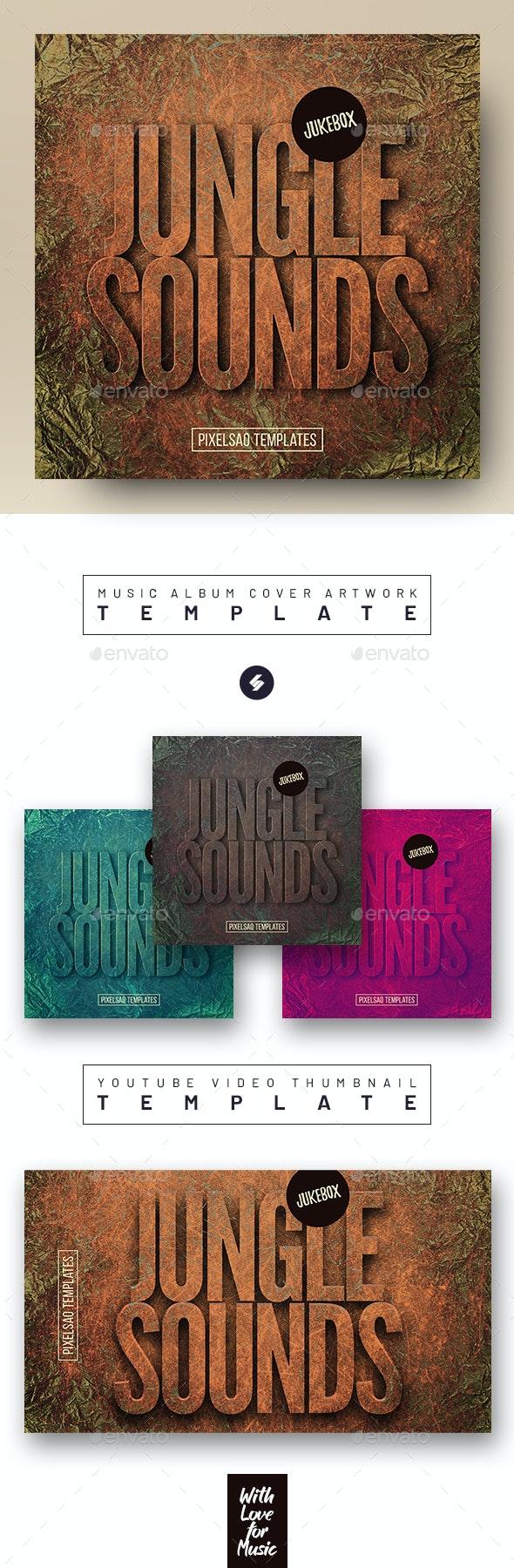 Jungle Sounds – Music Album Cover Artwork / Youtube Thumbnail Template - Miscellaneous Social Media