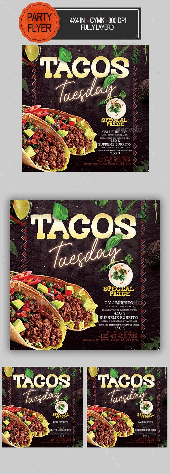 Tacos Flyer - Restaurant Flyers