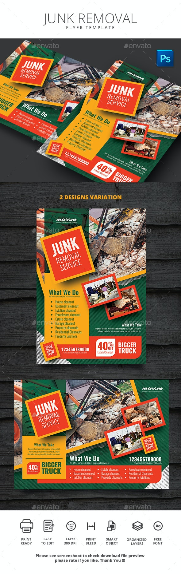 Junk Removal Flyer Template - Commerce Flyers