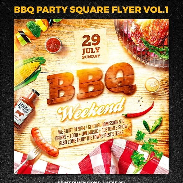 BBQ party Square Flyer vol.1