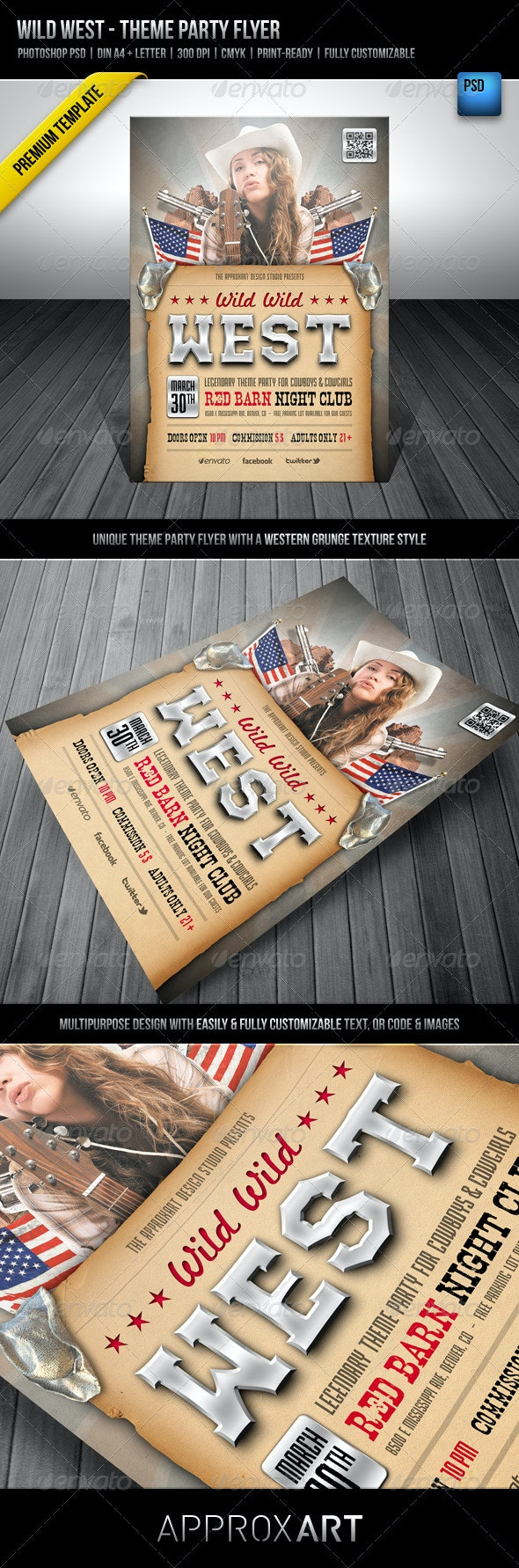 Wild West - Theme Party Flyer - Clubs & Parties Events