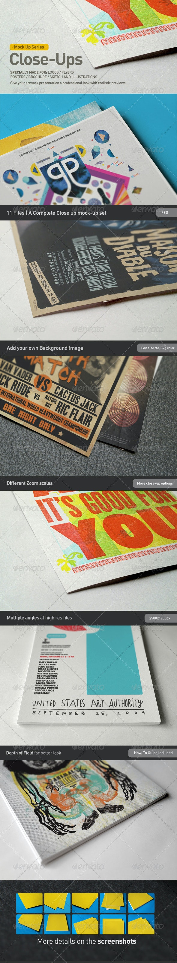 Close-Up Mock-Up - Miscellaneous Print