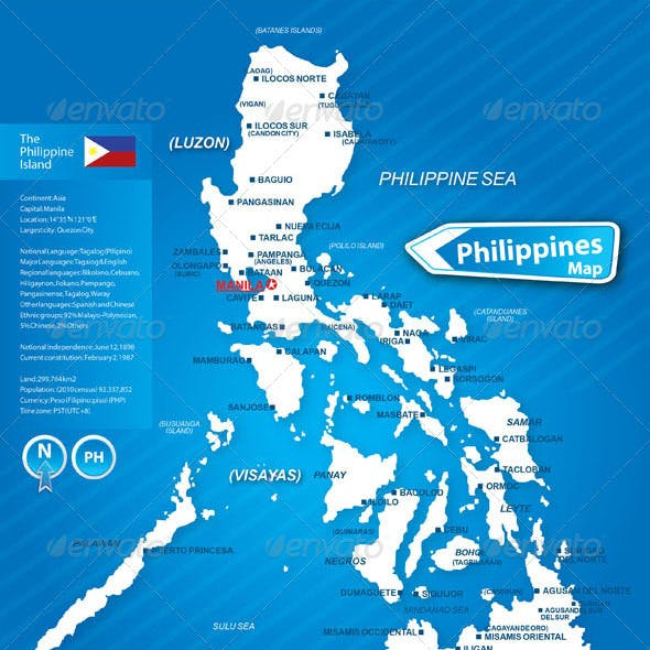 Map of the Philippines Island