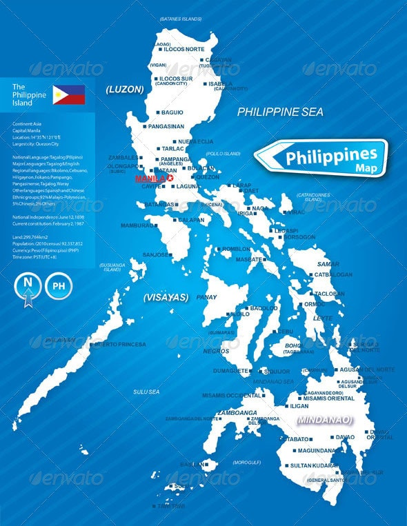 Map of the Philippines Island - Miscellaneous Vectors