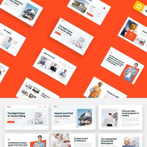 Omahq - Architecture & Real Estate Google Slides Template