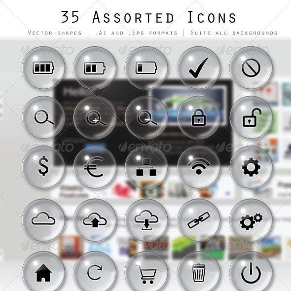 35 Assorted Icons