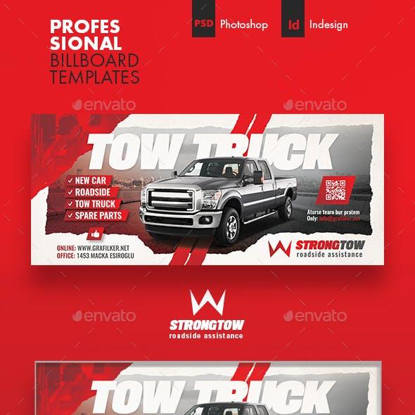 Tow Truck Billboard Templates