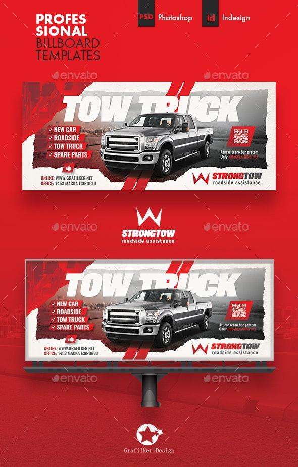 Tow Truck Billboard Templates - Signage Print Templates