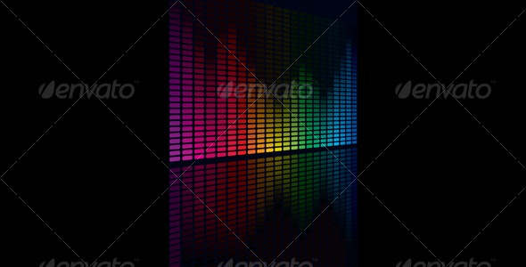 Coloful Graphic Equalizer Display - Media Technology