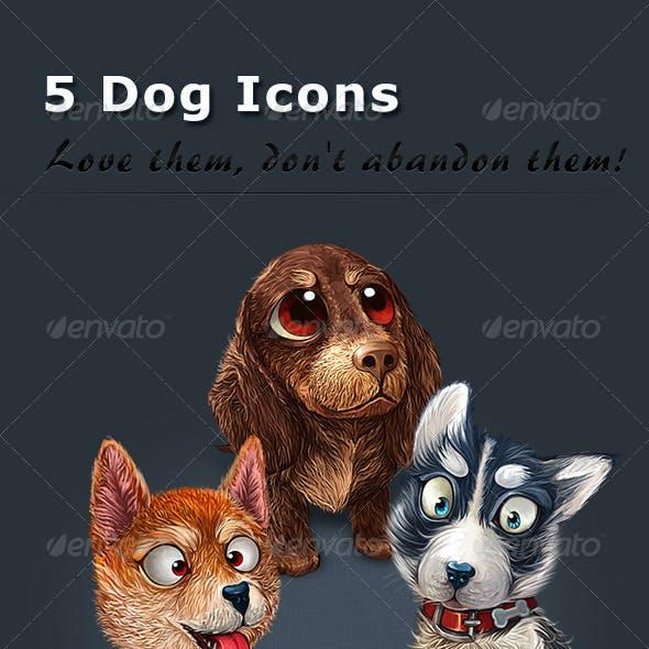 5 Dog Icons