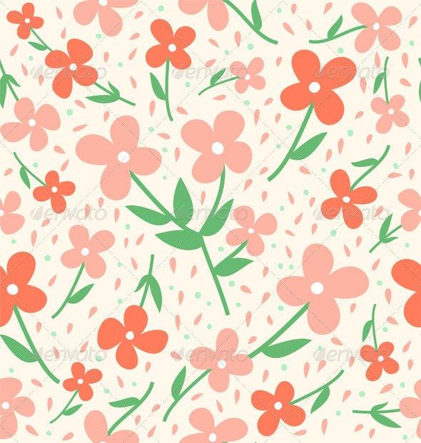 Seamless flower pattern - Patterns Decorative