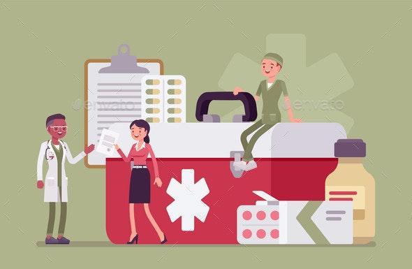 Healthcare Female Administrator Managing Doctor - Health/Medicine Conceptual