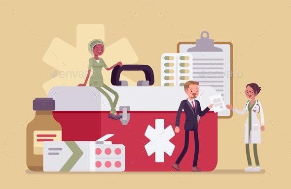 Healthcare Male Administrator Managing Doctor - Health/Medicine Conceptual
