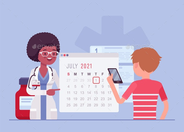 Online Hospital Registration and Appointment - Health/Medicine Conceptual
