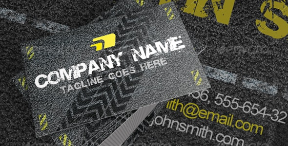 Asphalt Road Texture Business Card - Grunge Business Cards
