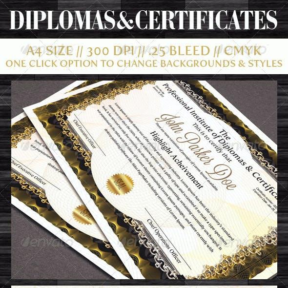 Diplomas & Certificates