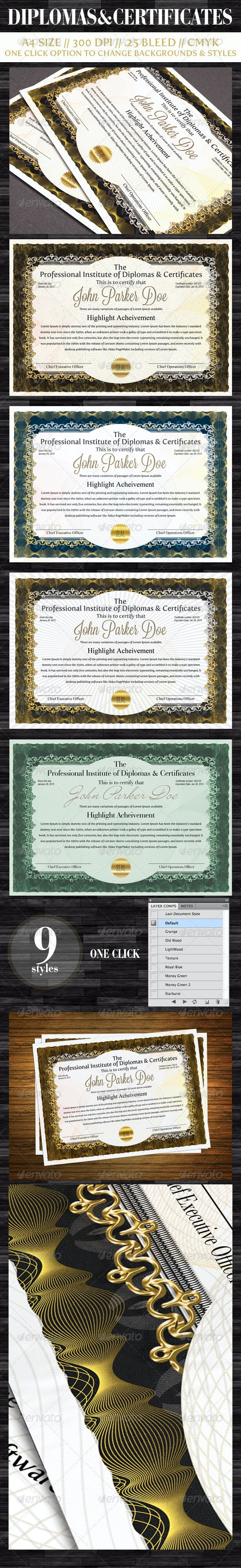 Diplomas & Certificates - Certificates Stationery