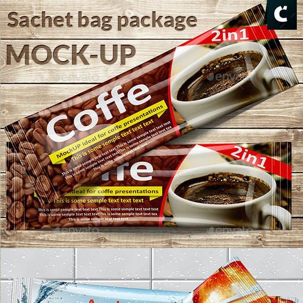 Sachet Foil bag package mock-up