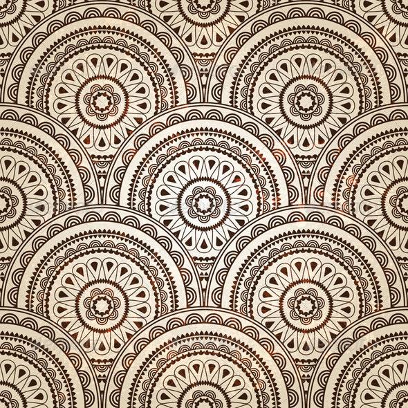 Vector Seamless Paisley Pattern - Patterns Decorative