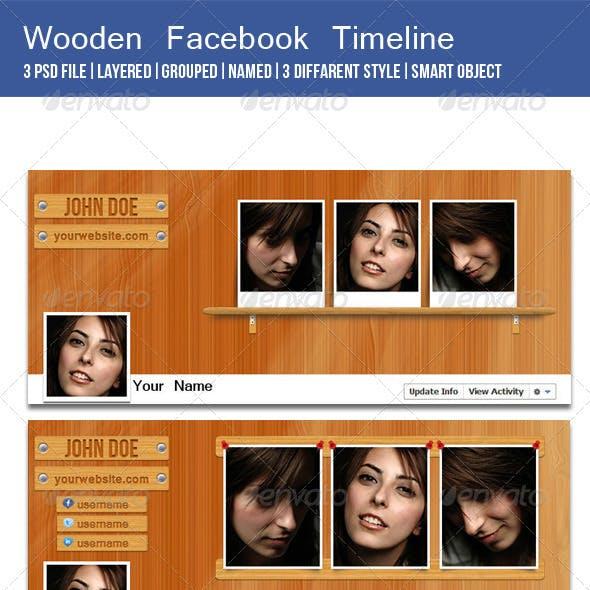 Wooden Facebook Timeline Cover Image