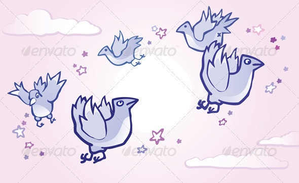Flying Birds - Animals Characters