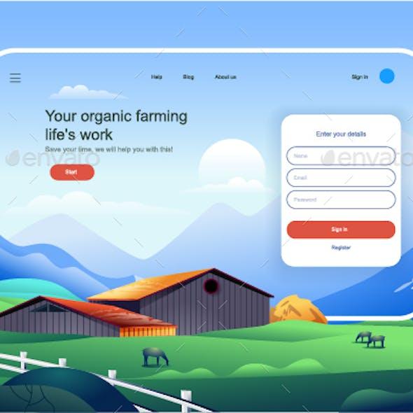 Organic Farming Landing Page