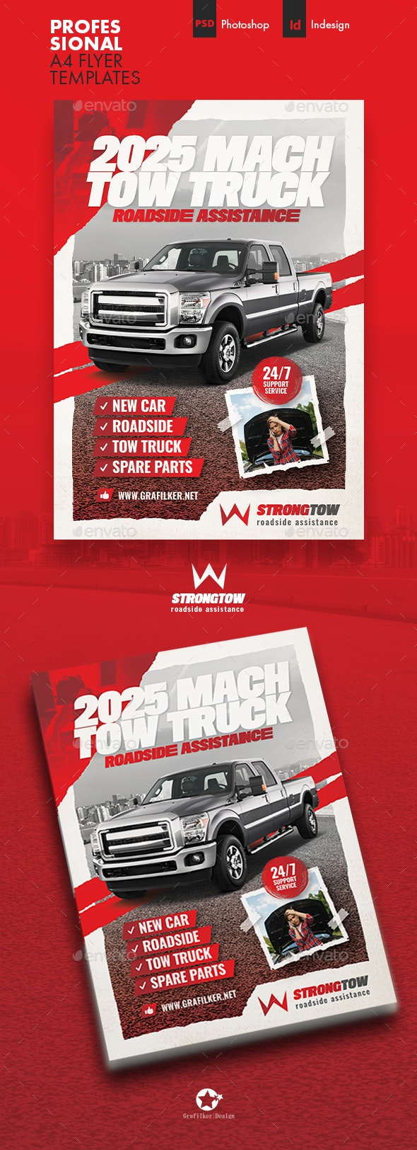 Tow Truck Flyer Templates - Corporate Flyers
